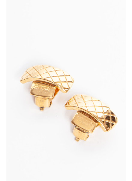 Céline VINTAGE-EFFECT GOLD EARRINGS