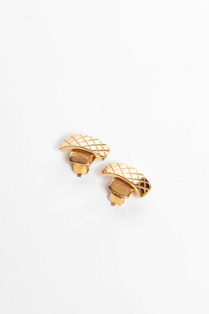 Céline VINTAGE-EFFECT GOLD EARRINGS