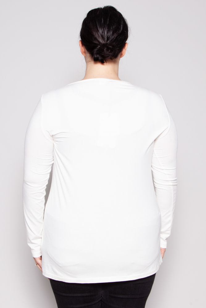 Marina Rinaldi OFF-WHITE TOP WITH SILVER DETAILS - NEW WITH TAGS