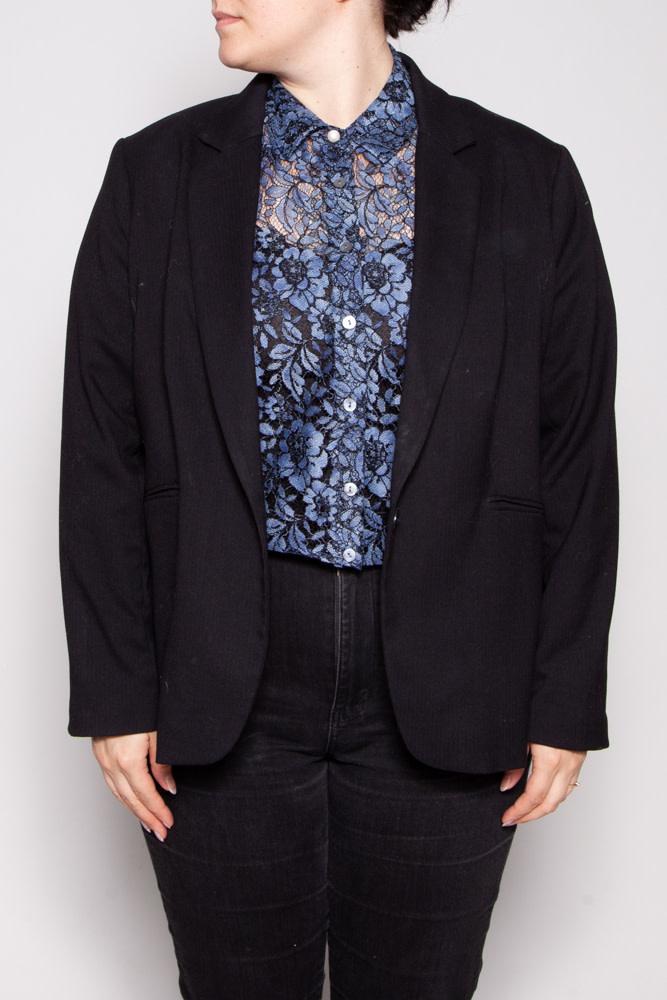 Marina Rinaldi BLACK AND BLUE DOLLY LACE DICKIE