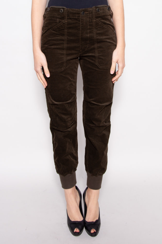 Vince GREEN CORDUROY PANTS