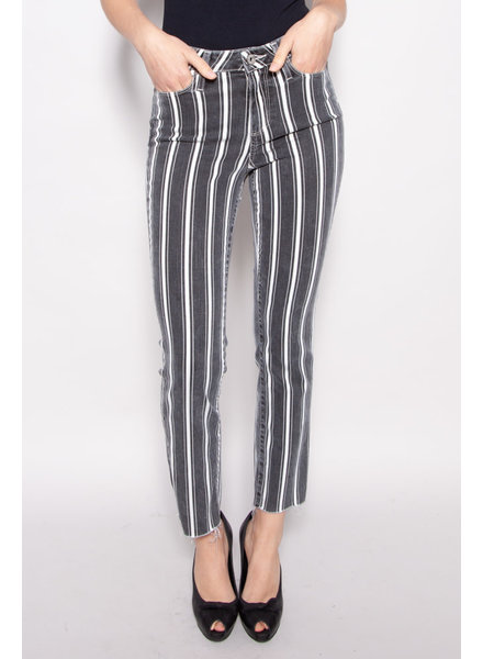 Paige GREY & WHITE STRIPED JEANS