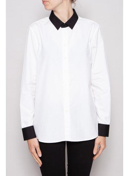 Saint Laurent Paris WHITE SHIRT WITH BLACK DETAILS