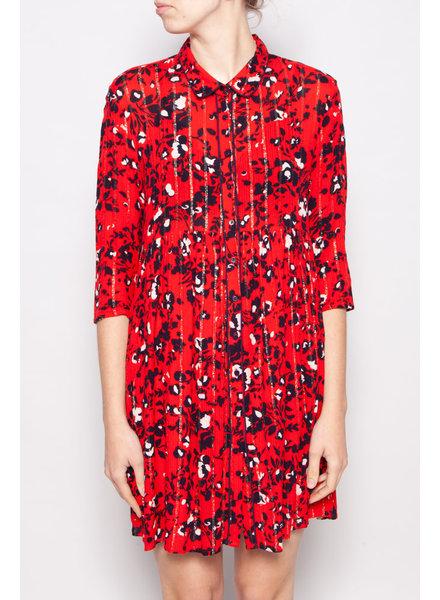 Ba&sh FLORAL PRINT RED DRESS