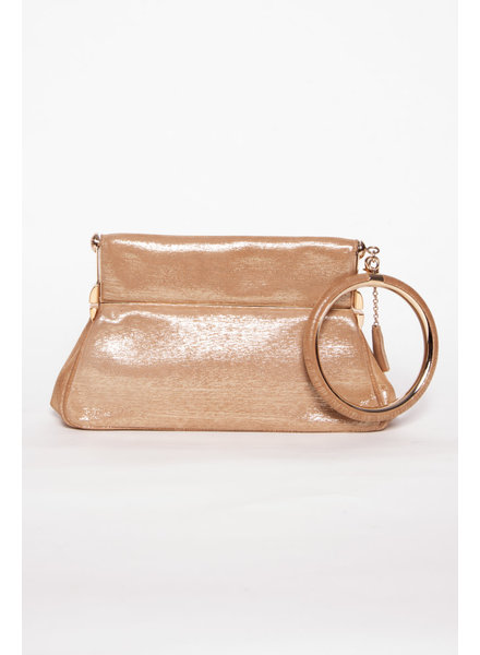 Dior GOLDEN LEATHER BAG WITH CIRCULAR HANDLE
