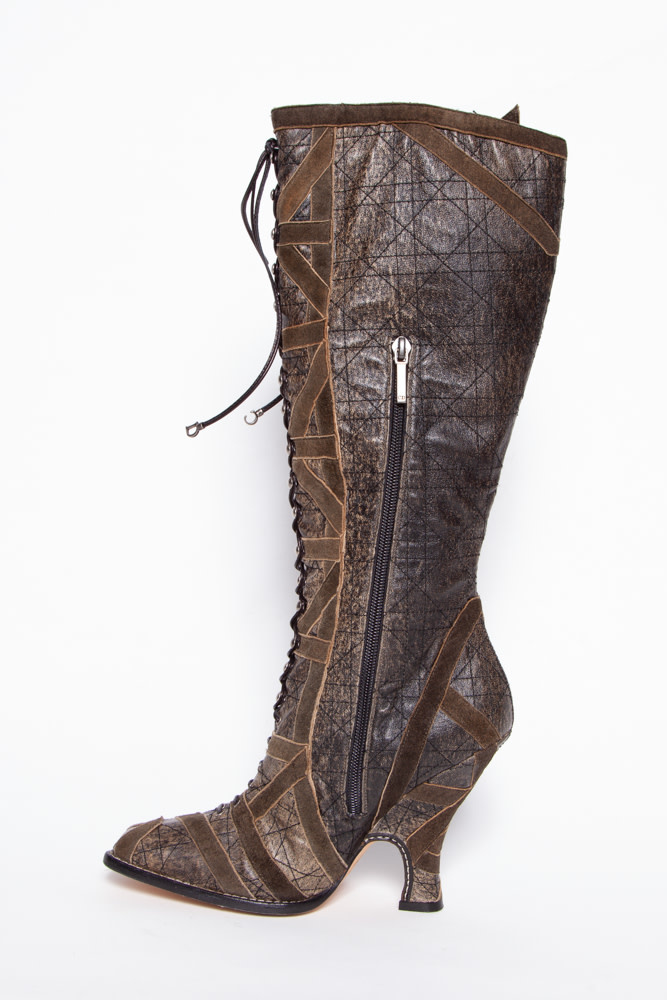 Dior HIGH LACED SQUARE TOE BOOTS
