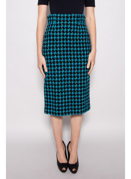 Chanel NEW PRICE (WAS $450) -  BLUE TWEED HIGH WAISTED SKIRT