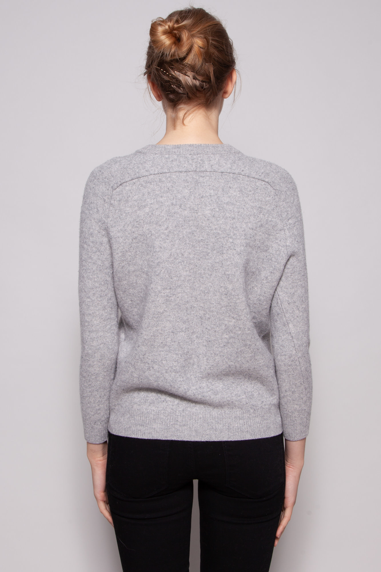 Vince GREY CASHMERE AND WOOL PULLOVER
