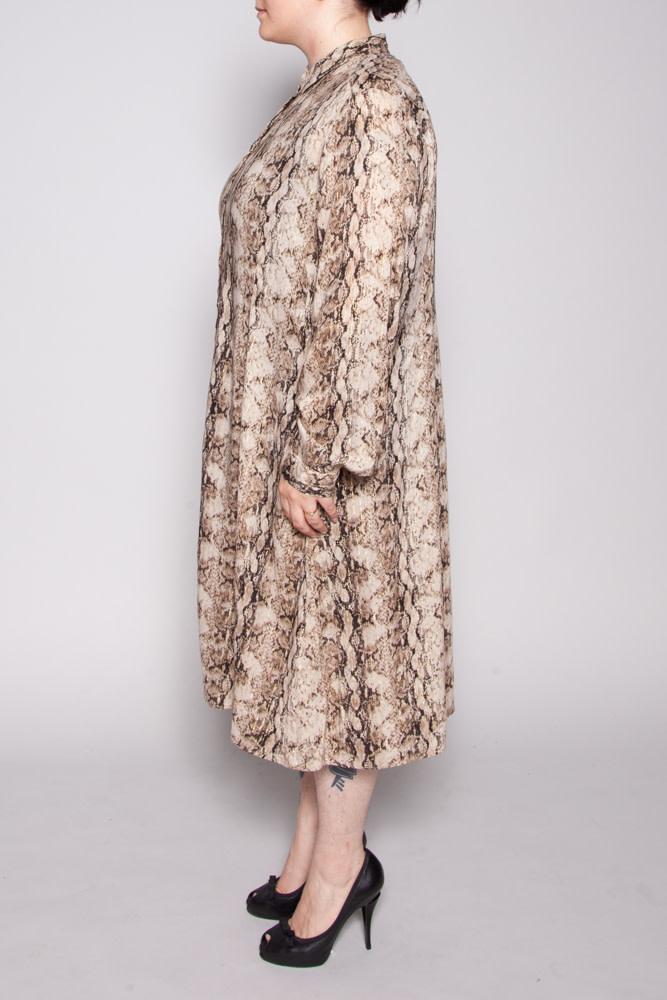 Marina Rinaldi SNAKE PRINT SHIRT DRESS