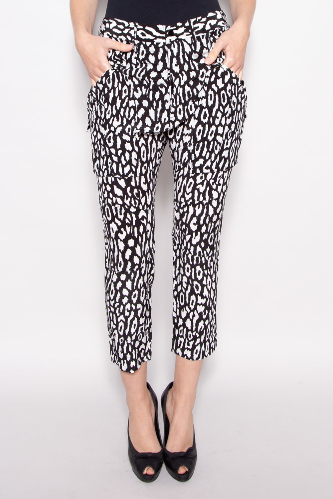 The Kooples NEW PRICE (WAS $115) - BLACK AND WHITE CHEETAH PRINT PANTS