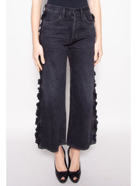 Citizens of Humanity GREY WIDE LEG JEAN WITH SEAM RUFFLE