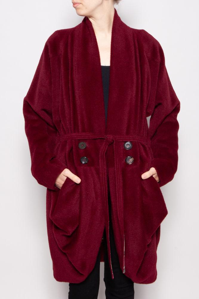 Kenzo RED WOOL AND LAMA COAT