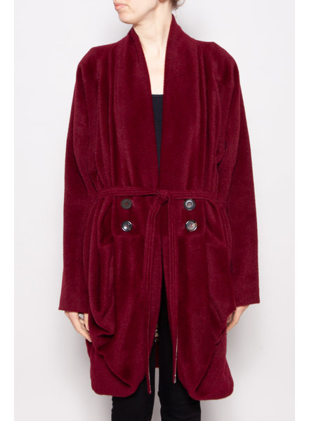 Kenzo RED WOOL AND LAMA COAT