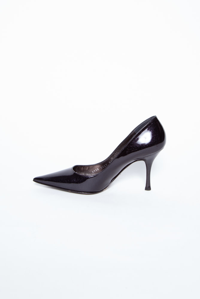 Dolce & Gabbana BLACK SPARKLING LEATHER PUMPS