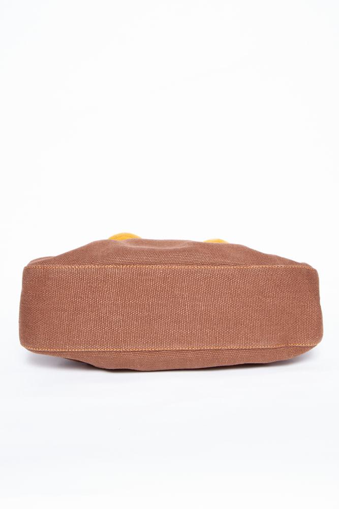 Fendi B-BAG LEATHER & FABRIC BAG