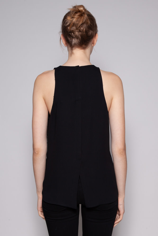 A.L.C. BLACK STUDDED TOP - NEW WITH TAGS