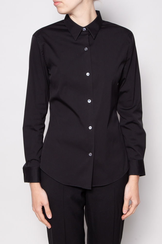 Theory BLACK FITTED SHIRT