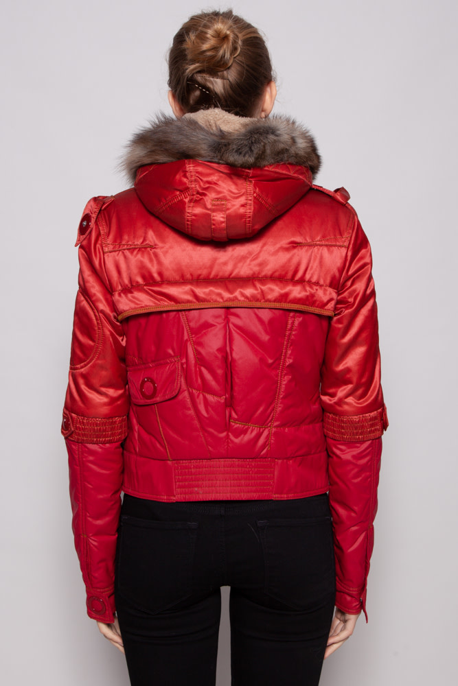Christian Dior NEW PRICE (WAS $580) - RED PUFFER JACKET WITH FUR HOOD