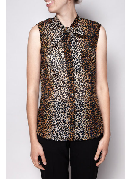 Dolce & Gabbana ANIMAL PRINT BLOUSE WITH PUSSY BOW
