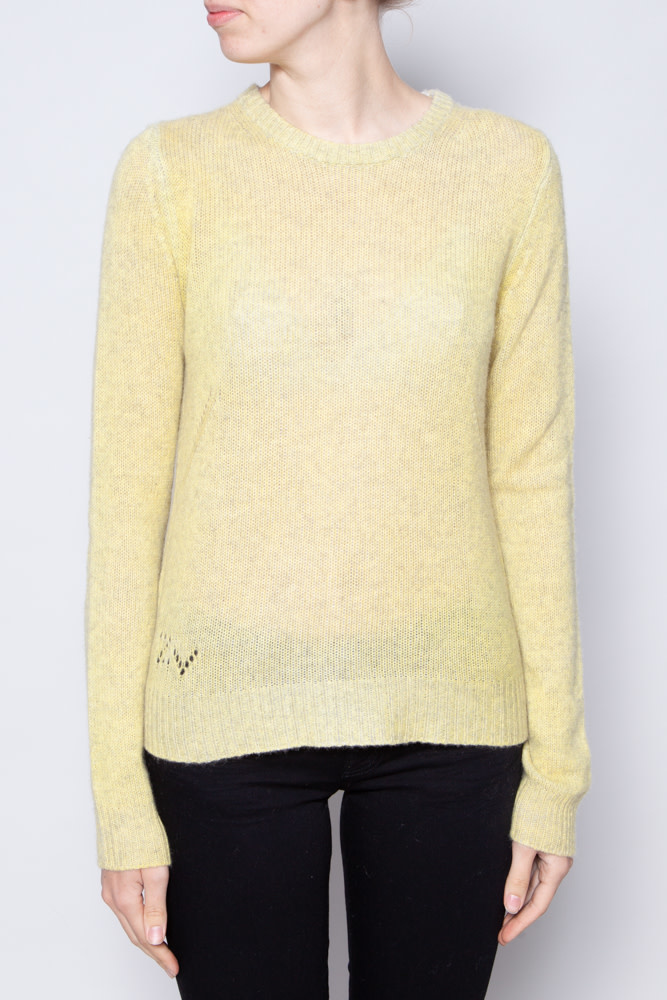 Zadig & Voltaire GREEN CASHMERE SWEATER