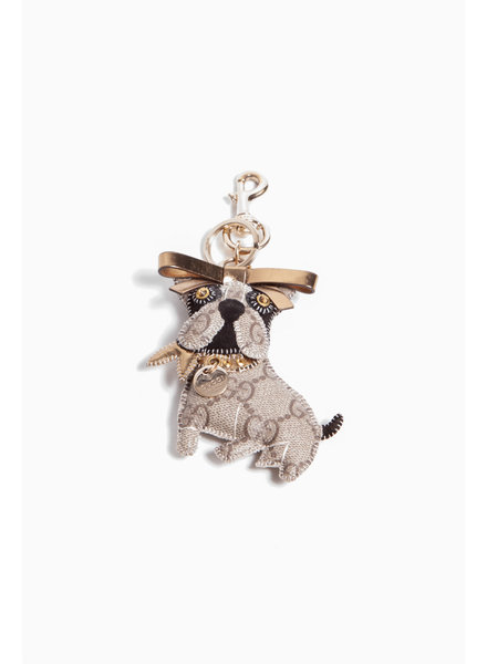 "Gucci CANVAS ""LEROY THE FRENCH BULLDOG"" KEYCHAIN"
