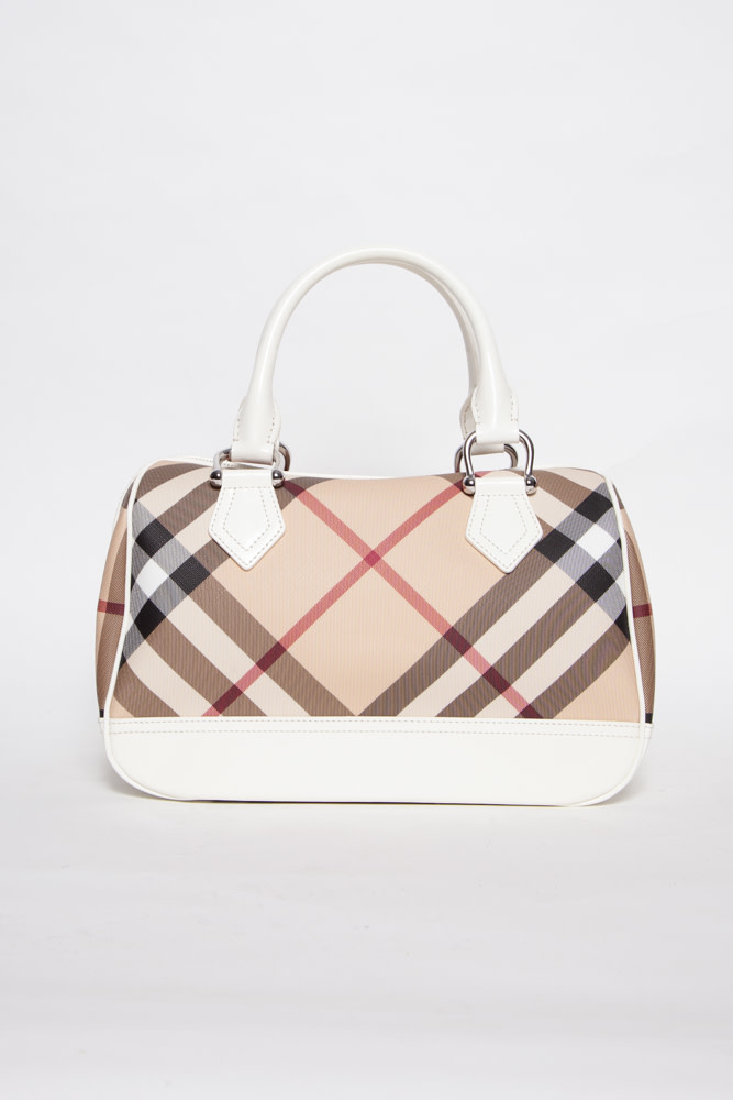 Burberry NOVA CHECK BOWLING BAG