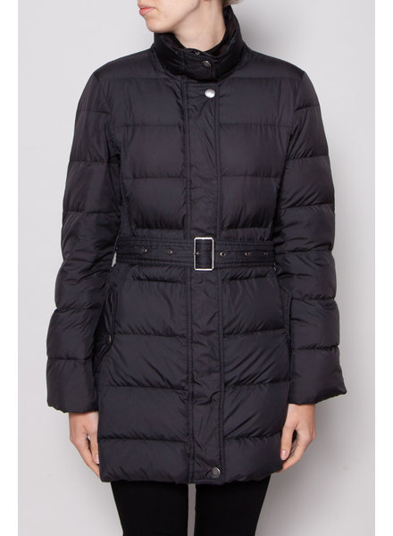 Burberry Brit BLACK DOWN COAT WITH BELT