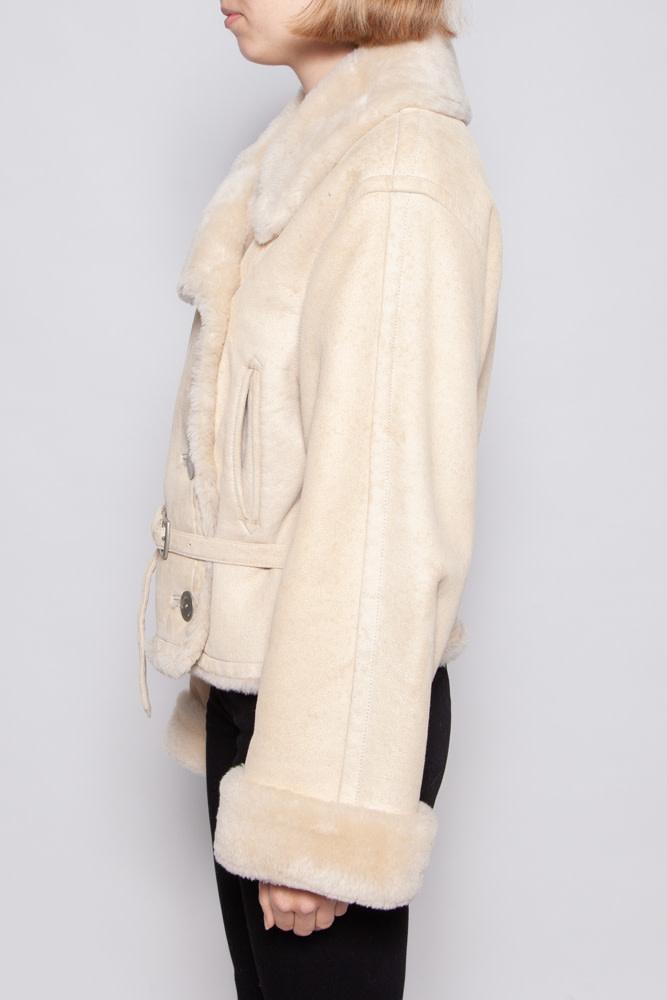 Hermès BEIGE SHEARLING COAT