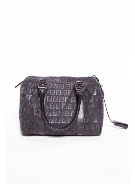 Fendi BLACK DOUBLE F PRINT BAG