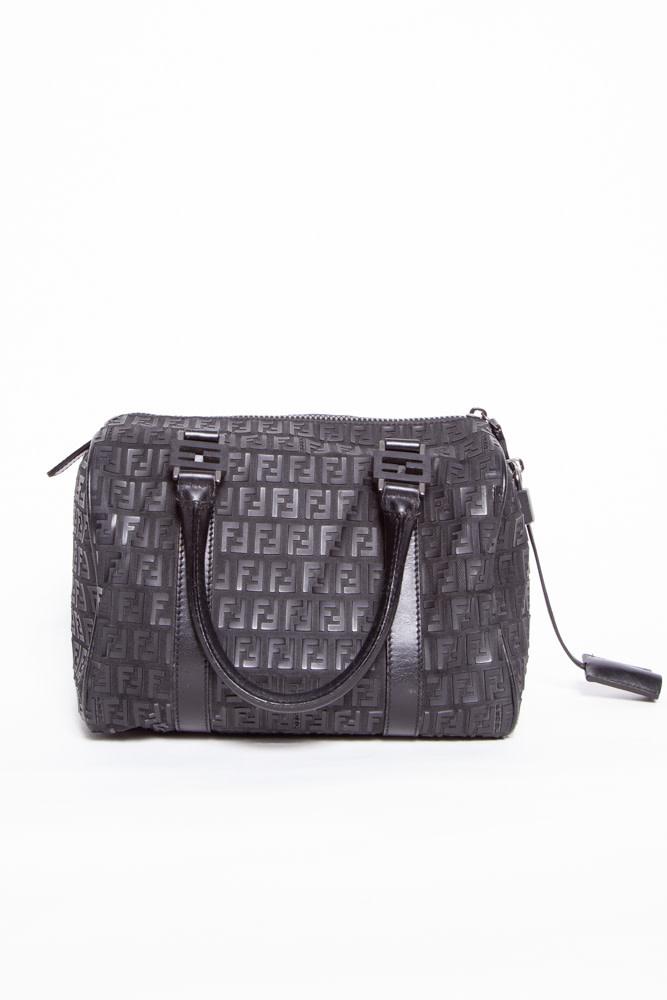 Fendi BLACK DOUBLE F PRINT BAG