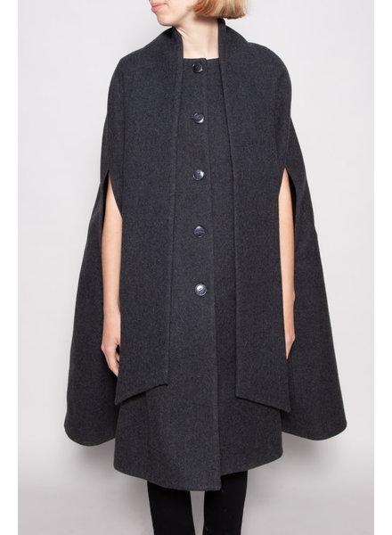 Éditions de Robes GREY WOOL CAPE COAT