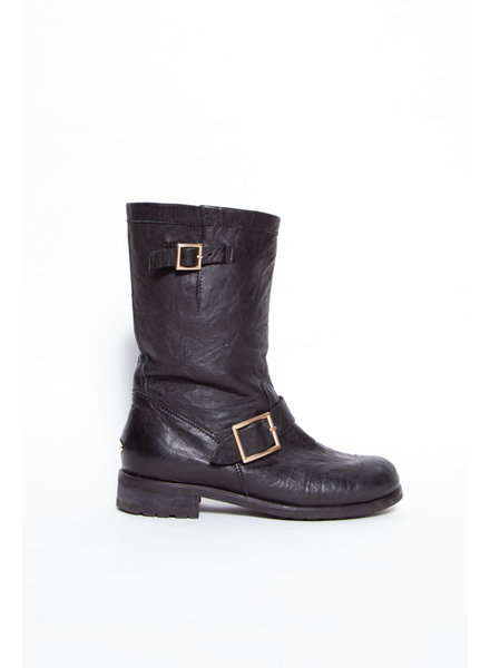 Jimmy Choo NEW PRICE (WAS $320) - BLACK LEATHER BIKER BOOTS