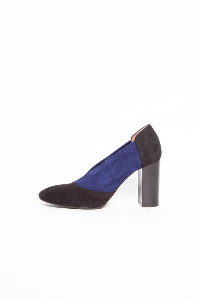 Aquatalia BLACK & BLUE SUEDE SHOES