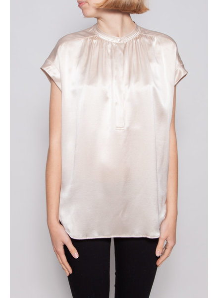 Vince CHAMPAGNE SILK TOP - NEW WITH TAGS