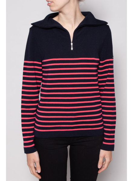 Saint James RED & BLUE STRIPED KNITTED SWEATER