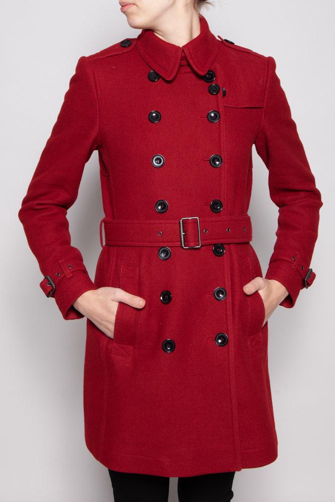 Burberry Brit RED WOOL COAT