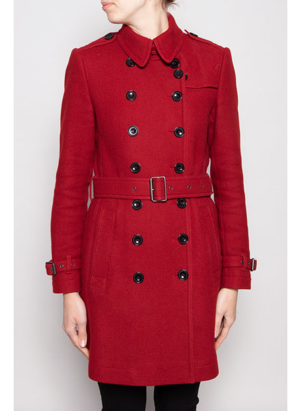 Burberry Brit MANTEAU ROUGE AVEC LAINE