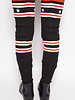 Givenchy BLACK KNITTED OVER-THE-KNEE BOOTS