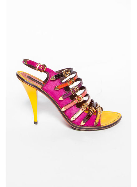Louis Vuitton MULTICOLOR LEATHER AND CALF HAIR PUMPS