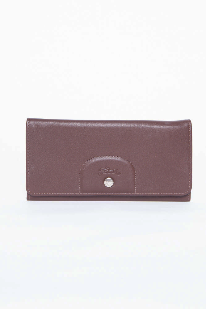 Longchamp BROWN LEATHER WALLET