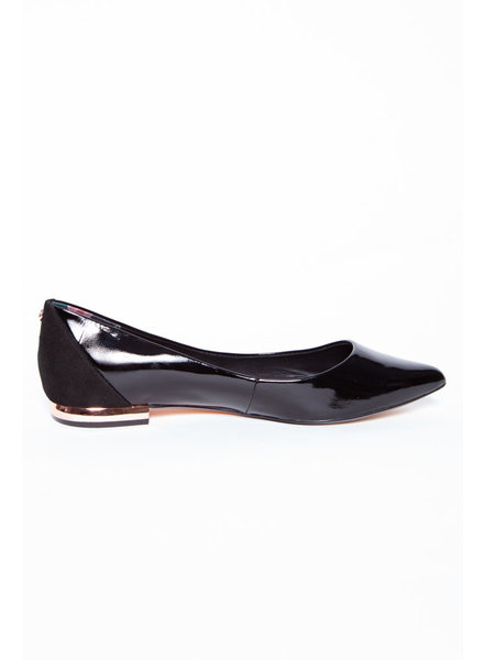 Ted Baker BLACK PATENT LEATHER BALLERINAS