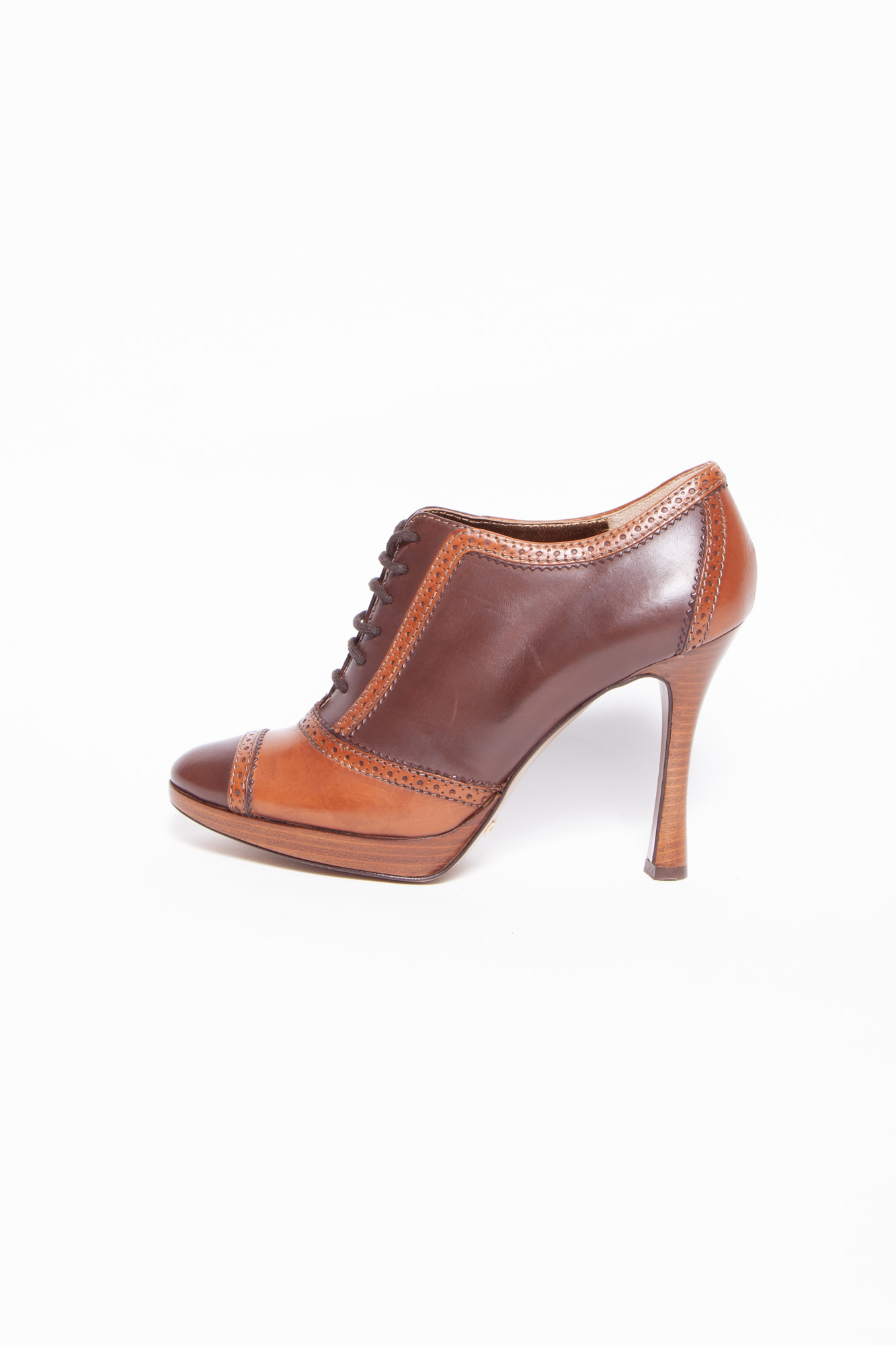 Dolce & Gabbana BROWN LEATHER PUMPS
