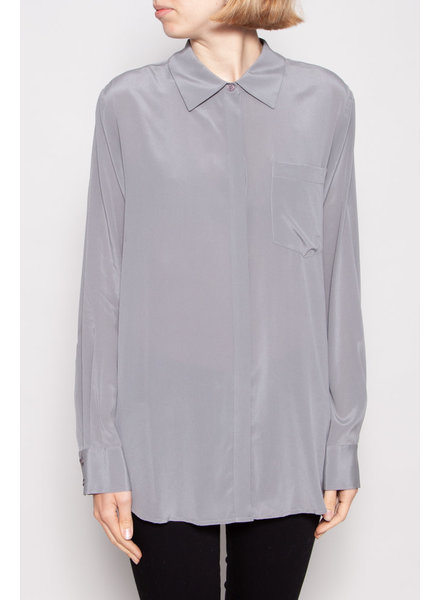 DKNY GREY SILK SHIRT - NEW WITH TAG (L)