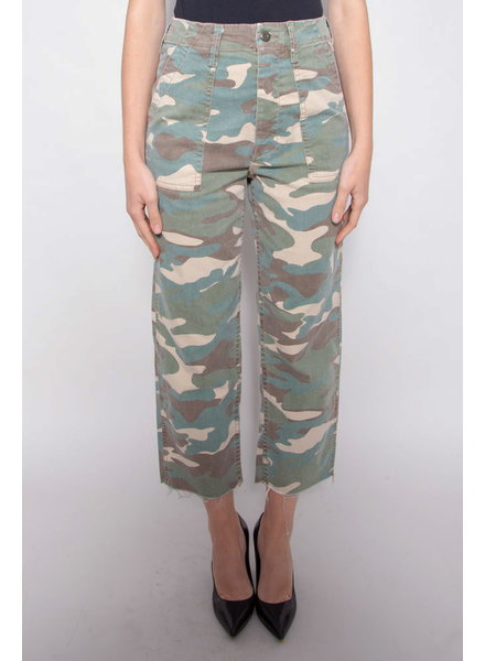 Mother CAMOUFLAGE PATCH POCKET PRIVATE ANKLE PANTS - NEW WITH TAGS
