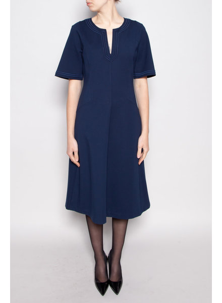 Tory Burch NAVY MIDI DRESS