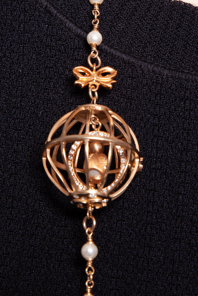 Chanel GOLDEN BIRD CAGE NECKLACE