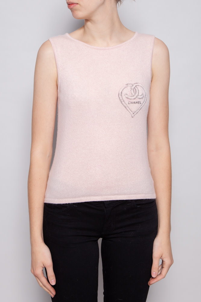 Chanel PINK CASHMERE TANK TOP
