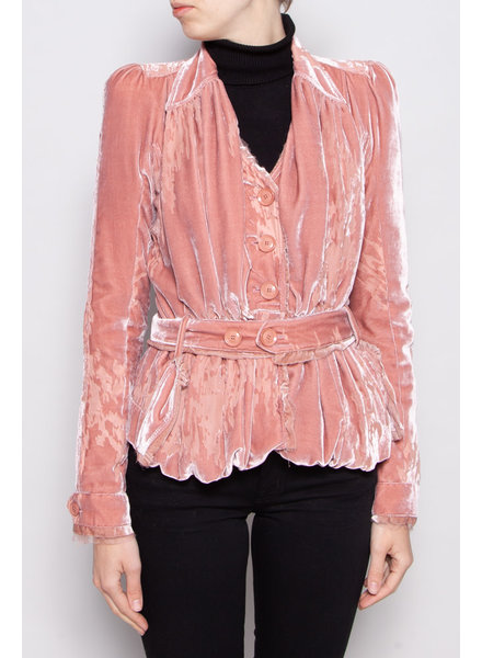 Christian Dior PINK VELVET AND TULLE BLAZER