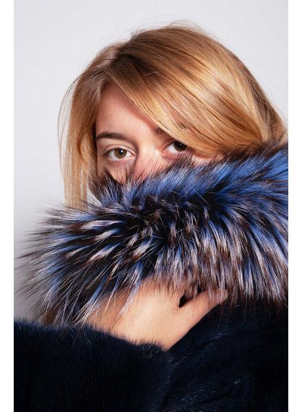 Badgley Mischka BLUE FUR COAT