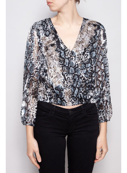 Alice + Olivia NEW PRICE (WAS $110) - ANIMAL PRINT TOP WITH SILK